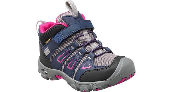 Keen Oakridge Mid WP - Chaussures Enfant - gris/bleu